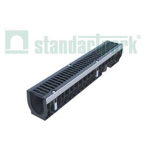 Лоток пластиковый с чугунной решеткой DN100, H171 DRIVE