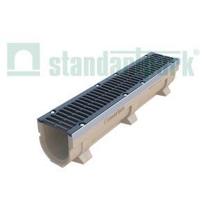 Лоток полимербетонный с чугунной решеткой DN150, Н 210 DRIVE