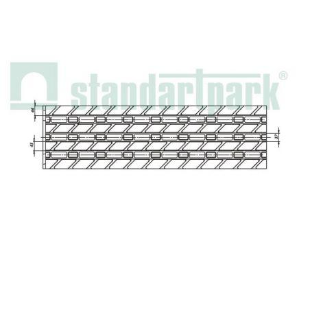 Блок полимербетонный монолитный ячеистый DN 200 H 410