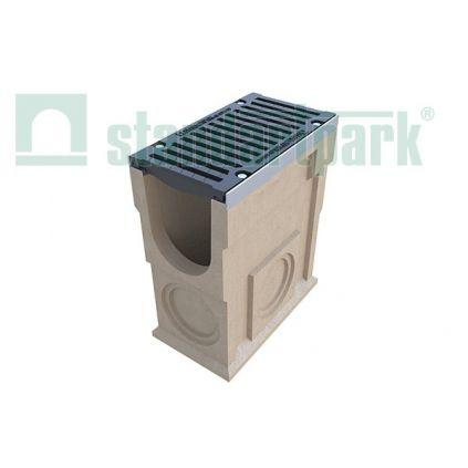 Пескоуловитель полимербетонный с чугунной решеткой  DN200 MAX