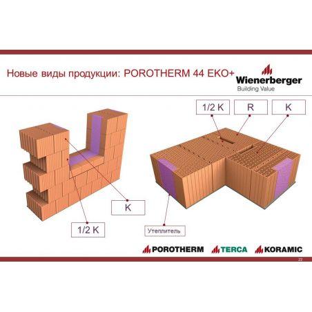 Блок Porotherm-44 EKO+