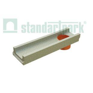 Лоток водоотводной бетонный с вертикальным водоотводом 0,5
