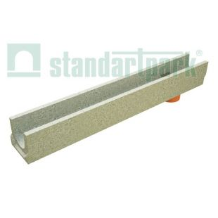 Tray H123 concrete with a tap