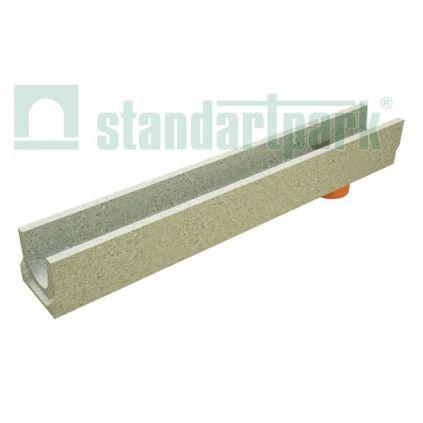 Лоток водоотводной бетонный с вертикальным водоотводом