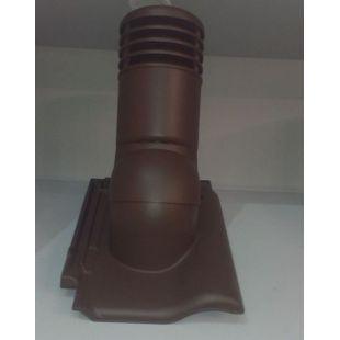 Вентиляционная черепица KRONO-PLAST Braas Rubin 9 коричневая