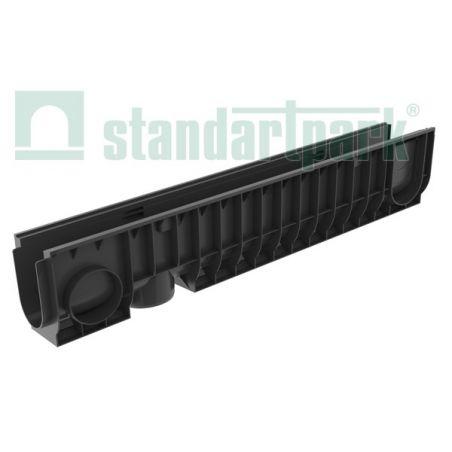 Лоток водоотводной пластиковый с боковым подключением H200