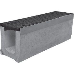 Лоток бетонный 0416 Super в комплекте с чугунной решеткой DN150
