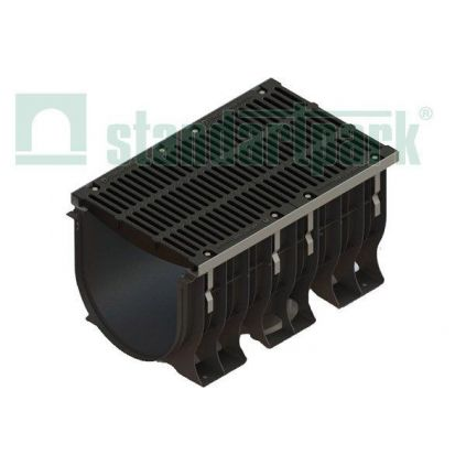 Лоток MAXI пластик с чугунной решеткой DN500, H610