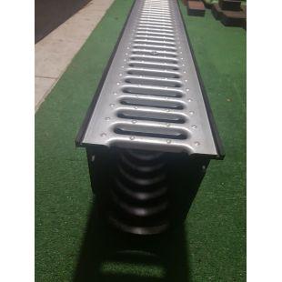 Лоток Recyfix 010 в комплекте с решёткой стальной