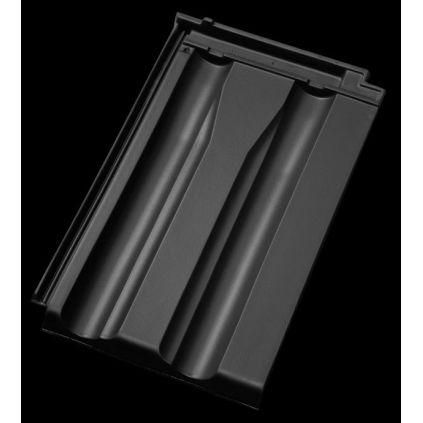 Черепица D10 ангоба чёрная
