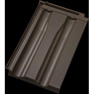 Черепица D10 ангоба коричневая