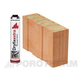Блок-половинка Porotherm-38 1/2 Thermo Dryfix