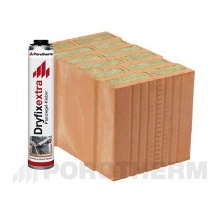Блок Porotherm-38 Thermo Dryfix с утеплителем