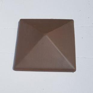 Накрывка 380x380 коричневая керамическая на столб забора