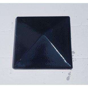 Накрывка 380x380 чёрная керамическая на столб забора