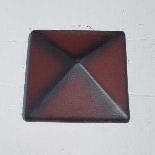 Накрывка 380x380 каштан керамическая на столб забора