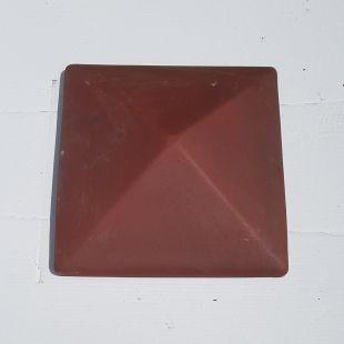 Накрывка 380x380 вишня керамическая на столб забора