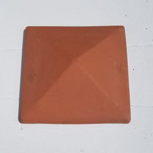 Накрывка 380x380 красная керамическая на столб забора