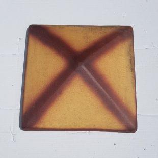 Накрывка 380x380 желтая тень керамическая на столб забора