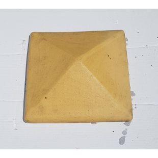 Накрывка 380x380 желтая керамическая на столб забора