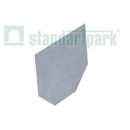 Заглушка торцевая стальная оцинкованная для лотка водоотводного DN100