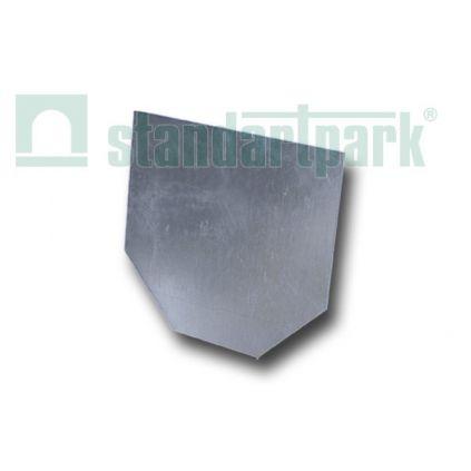 Заглушка торцевая стальная оцинкованная для лотка водоотводного DN200