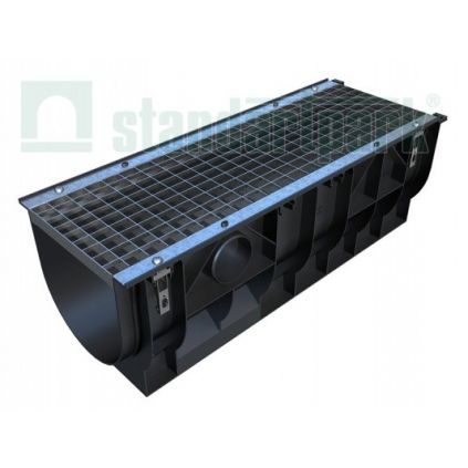 Лоток водоотводной пластиковый с боковым подключением H378