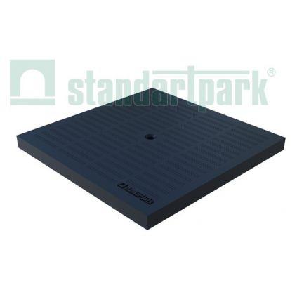 Cover plastic black 300x300