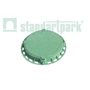 Люк пластиковый круглый зеленый