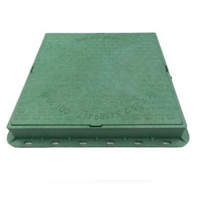 Люк пластиковый квадратный зеленый