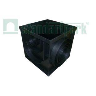 Дождеприемник-пескоуловитель пластиковый 433х433 черный