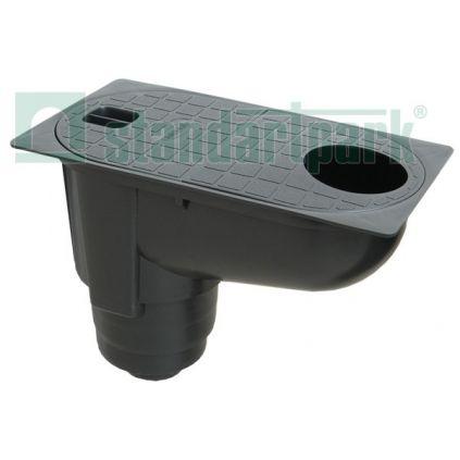 Дождеприемник водосточных систем с вертикальным отводом.