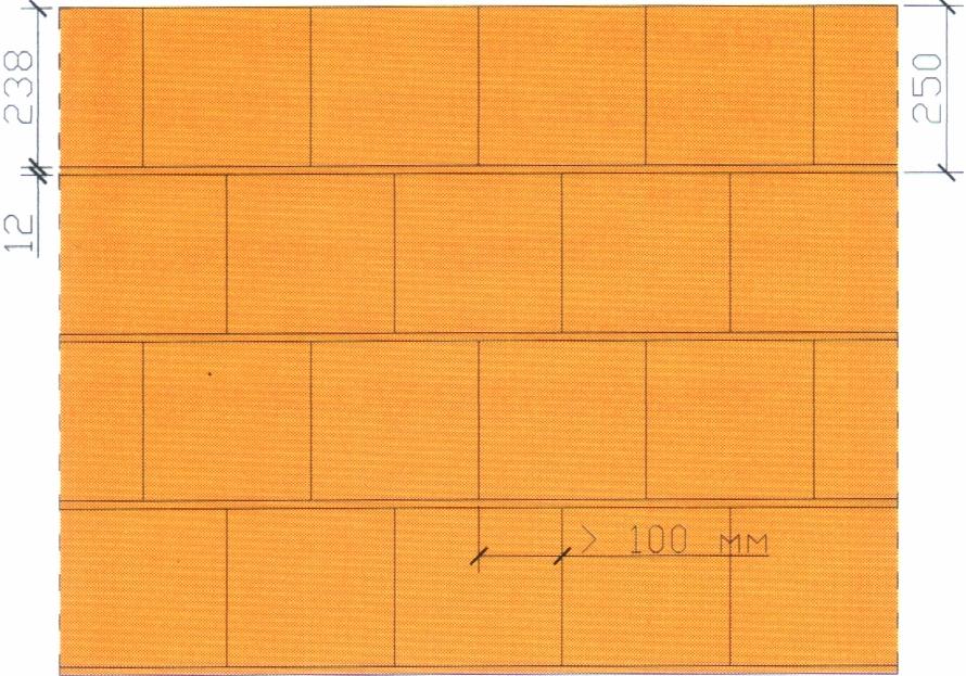 Вертикальная перевязка блоков Porotherm